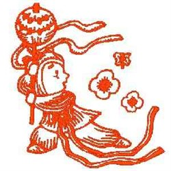 RW Chinese Girl embroidery design