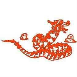 RW Dragon embroidery design