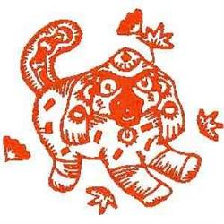 RW China Dog embroidery design
