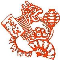 RW Asian Fan embroidery design