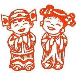 RW Asian Kids embroidery design