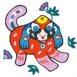 China Dog embroidery design