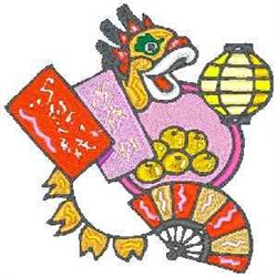 Chinese Fan embroidery design