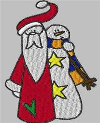 Santa & Snowman embroidery design