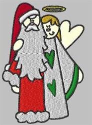 Santa & Angel embroidery design