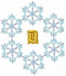 Christmas Fantasy Alphabet D embroidery design
