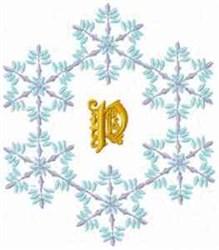 Christmas Fantasy Alphabet P embroidery design