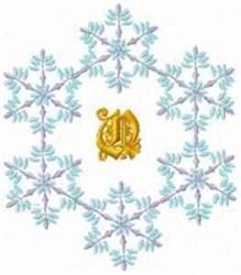 Christmas Fantasy Alphabet Q embroidery design