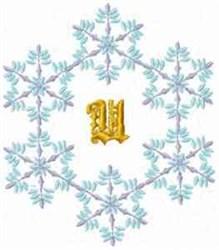 Christmas Fantasy Alphabet U embroidery design