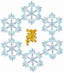 Christmas Fantasy Alphabet X embroidery design