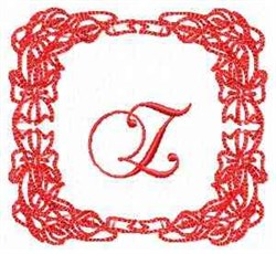 Christmas Lily Z embroidery design