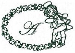 St Pattys Alphabet A embroidery design
