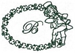 St Pattys Alphabet B embroidery design
