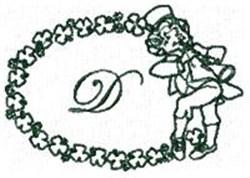 St Pattys Alphabet D embroidery design