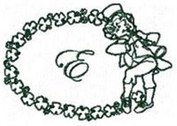 St Pattys Alphabet E embroidery design
