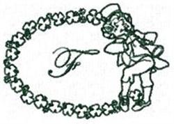 St Pattys Alphabet F embroidery design