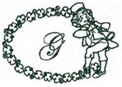 St Pattys Alphabet G embroidery design