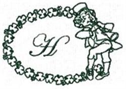 St Pattys Alphabet H embroidery design