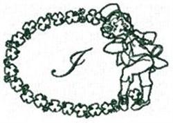 St Pattys Alphabet I embroidery design