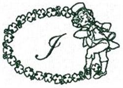 St Pattys Alphabet J embroidery design