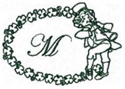 St Pattys Alphabet M embroidery design