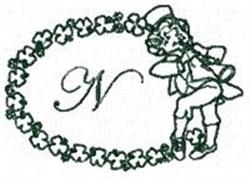 St Pattys Alphabet N embroidery design
