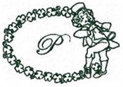 St Pattys Alphabet P embroidery design
