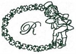 St Pattys Alphabet R embroidery design