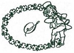 St Pattys Alphabet S embroidery design