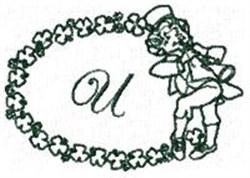 St Pattys Alphabet U embroidery design