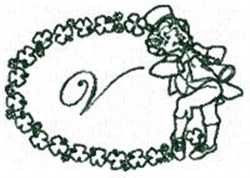 St Pattys Alphabet V embroidery design