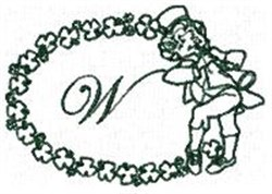 St Pattys Alphabet W embroidery design