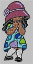 Shy Girl embroidery design
