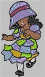 Happy Girl embroidery design