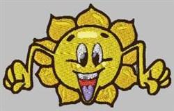 Funny Sun embroidery design
