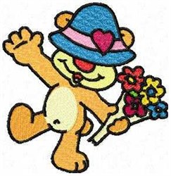 Happy Bear embroidery design
