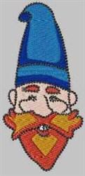 Blue Gnome embroidery design