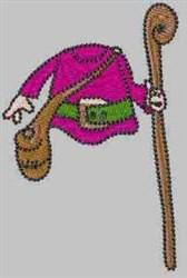 Gnome Body embroidery design