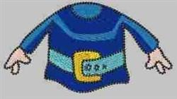 Gnome Blue Shirt embroidery design
