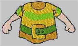 Stripe Shirt Gnome embroidery design