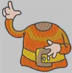 Orange Gnome embroidery design
