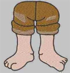 Gnome Legs embroidery design