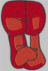 Red Gnome Legs embroidery design