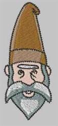 Brown Gnome embroidery design