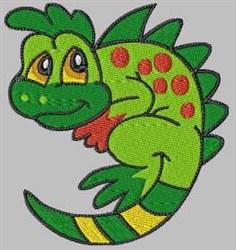 Cartoon Lizard embroidery design