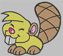 Cartoon Beaver embroidery design
