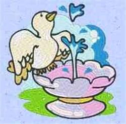 Dove Bath embroidery design