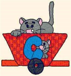 Teddy Express Cat embroidery design