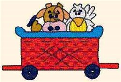 Teddy Express Animals embroidery design