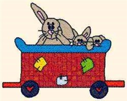 Teddy Express Rabbits embroidery design